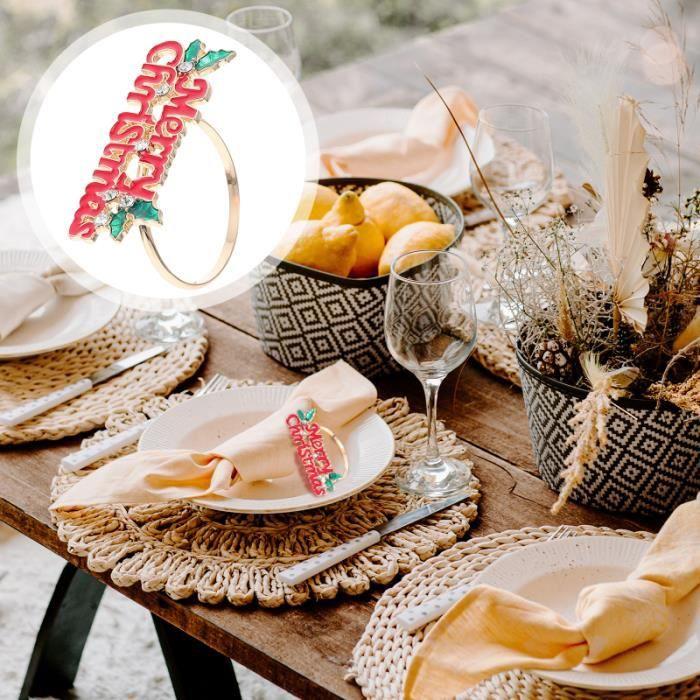 6Pcs Christmas Tissue Buckles Napkin Ring Holders Desktop seche-serviette electrique genie thermique - climatique - chauffage