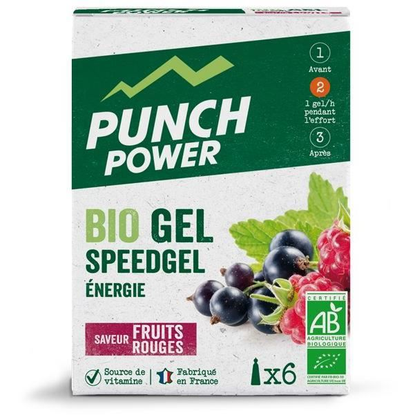 PUNCH POWER SPEEDGEL FRUITS ROUGES - BOÎTE 6 GELS
