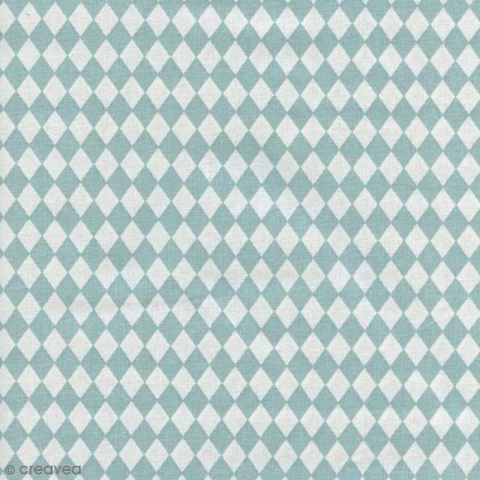 Tissu Losange - Bleu ciel - Par 10 cm (sur mesure) issu Rico Design vendu à la coupe par 10 cm, Si vous sélectionnez une quantité
