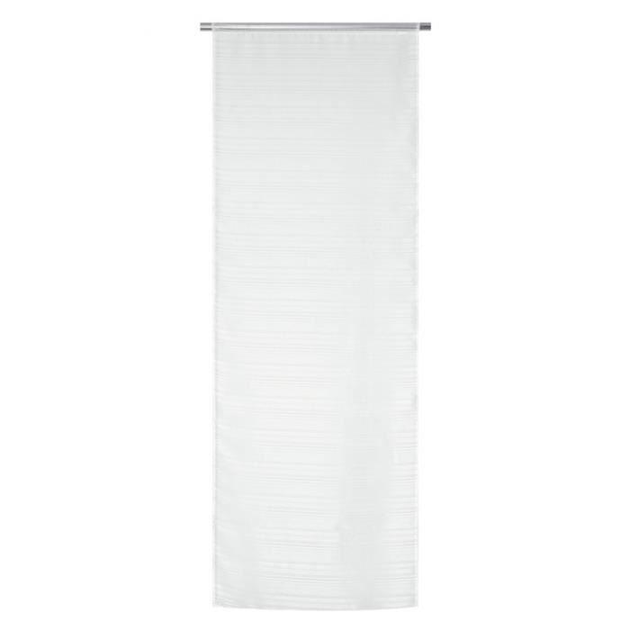 Voilage Vitrage a Fines Rayures en 70x200 CM Blanc