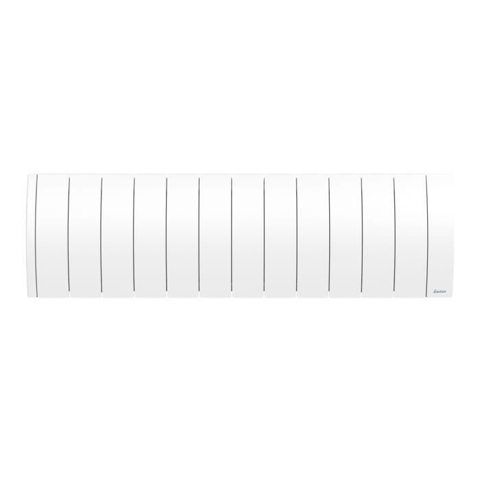SAUTER Radiateur connecté à inertie Fluide Ipala - Bas - 1400W - Blanc