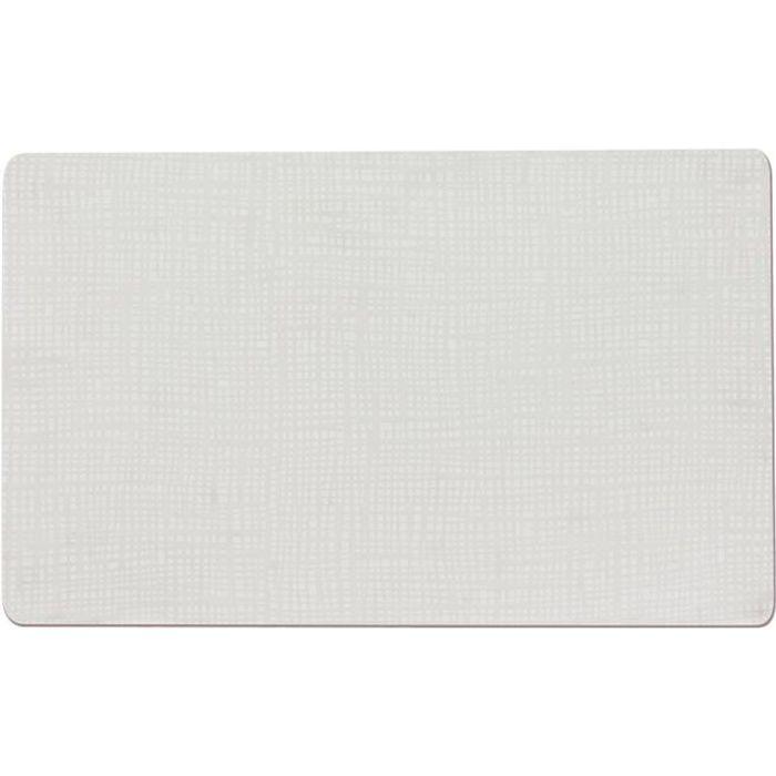 SET TABLE PVC SOUPLE TYPE SILICONE 43,5X28,5 BLANC (LOT DE 2) NEURE NEUTRE