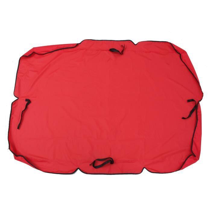 TEMPSA 1Pc Couverture Canopée 66x45x5.9 pouce Pour Balancelle Rouge