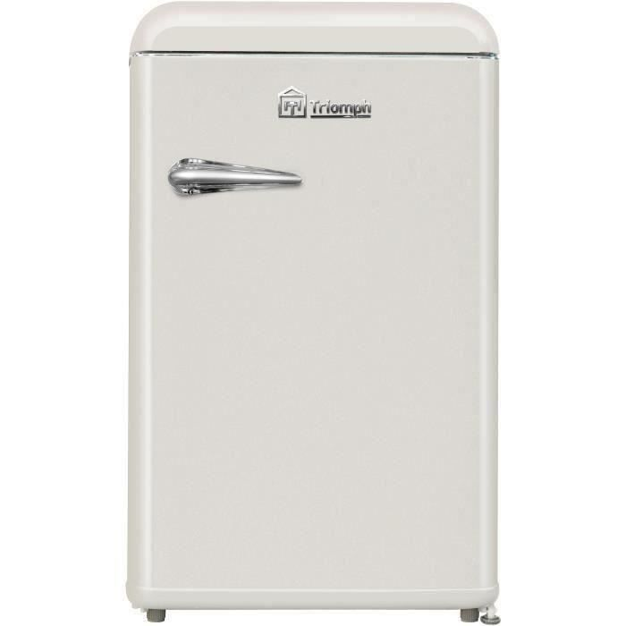 TRIOMPH TLTT118C - Réfrigérateur Vintage Table Top - 118L (106 + 12) - Froid statique - A++ - L 55 x H 89.5 cm - Crème