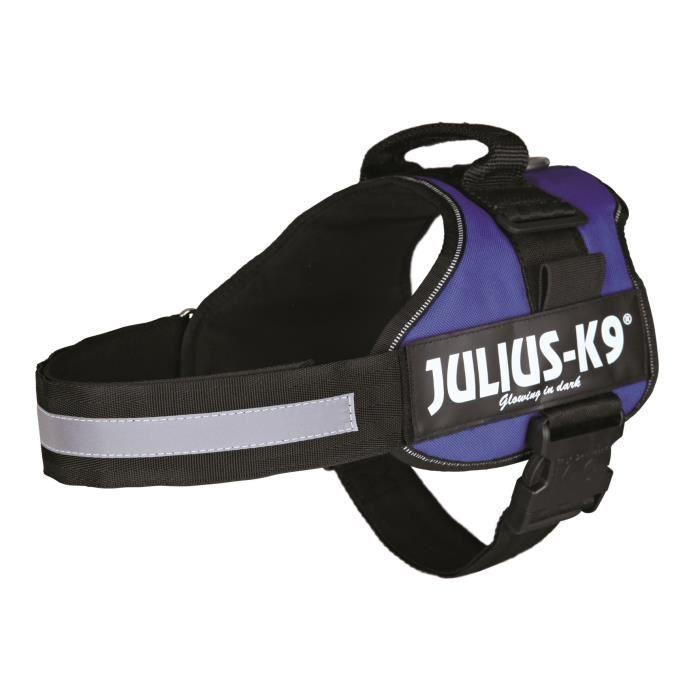 Harnais Power Julius-K9 - 1 - L : 66-85 cm-50 mm - Bleu - Pour chien