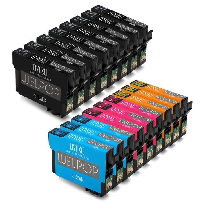 Compatible Cartouche d imprimante Epson t0711 t0712 t0713 t0714 pour Epson Stylus SX610FW, SX400, SX100, SX600FW, SX105