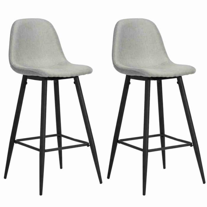 tabouret de bar gris achat vente tabouret de bar gris pas cher cdiscount. Black Bedroom Furniture Sets. Home Design Ideas