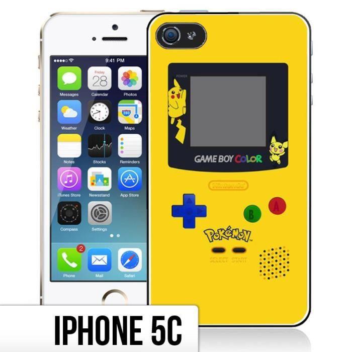 Coque iPhone 5C Game Boy Color - Pokemon Jaune - Cdiscount Téléphonie