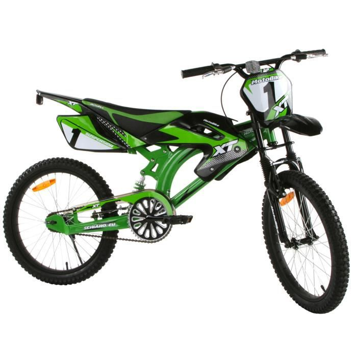 v lo tout terrain motobike 20 pouces pour enfant vert. Black Bedroom Furniture Sets. Home Design Ideas
