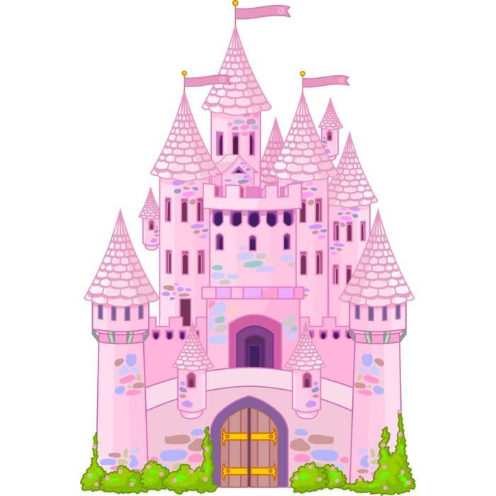 Sticker enfant chateau princesse dimensions 3 achat for Image chateau princesse
