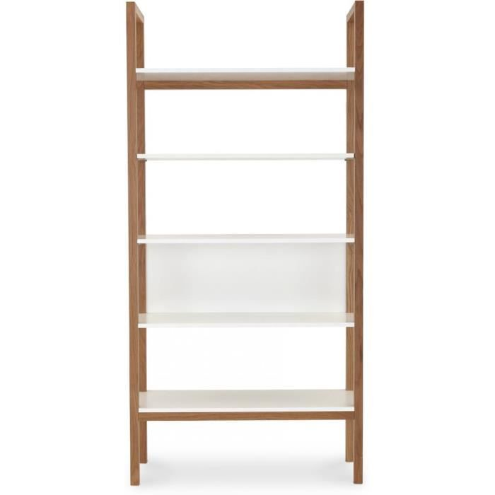 etagere blanc et bois fa37 jornalagora. Black Bedroom Furniture Sets. Home Design Ideas