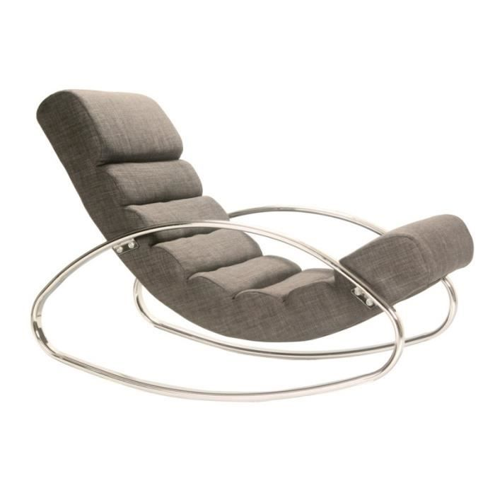 fauteuil relax design miami tissu gris achat vente fauteuil cdiscount. Black Bedroom Furniture Sets. Home Design Ideas