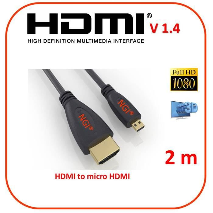 cable mini hdmi vers micro hdmi achat vente cable mini. Black Bedroom Furniture Sets. Home Design Ideas