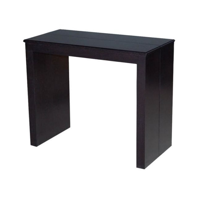 Table console extensible kelly marron wenge achat - Table console extensible fly ...