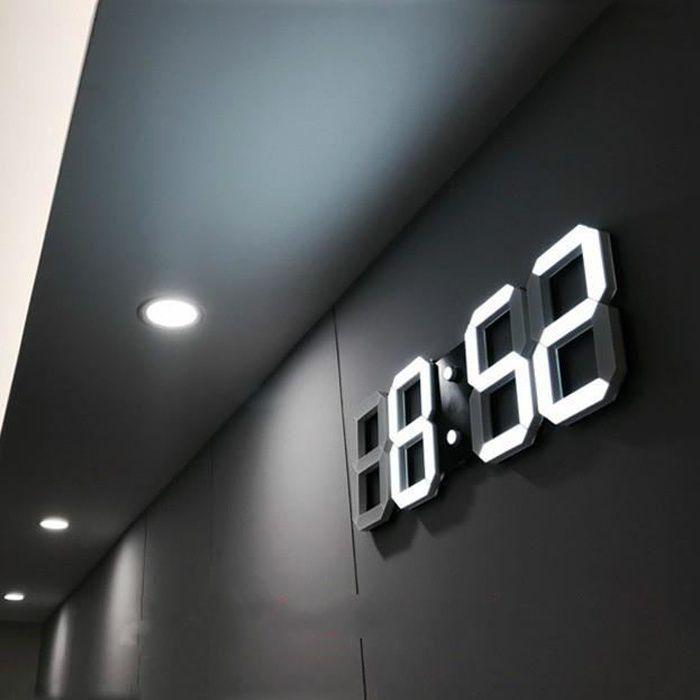 Couleur : Noir , taille : 30cm 12 inches Horloge murale minimaliste moderne Horloge cr/éative de personnalit/é dhorloge de mode de mode Horloge silencieuse de quartz
