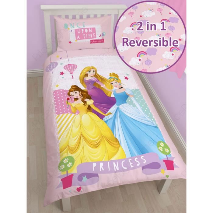 housse de couette disney princesses 1 personne achat vente housse de couette cdiscount. Black Bedroom Furniture Sets. Home Design Ideas