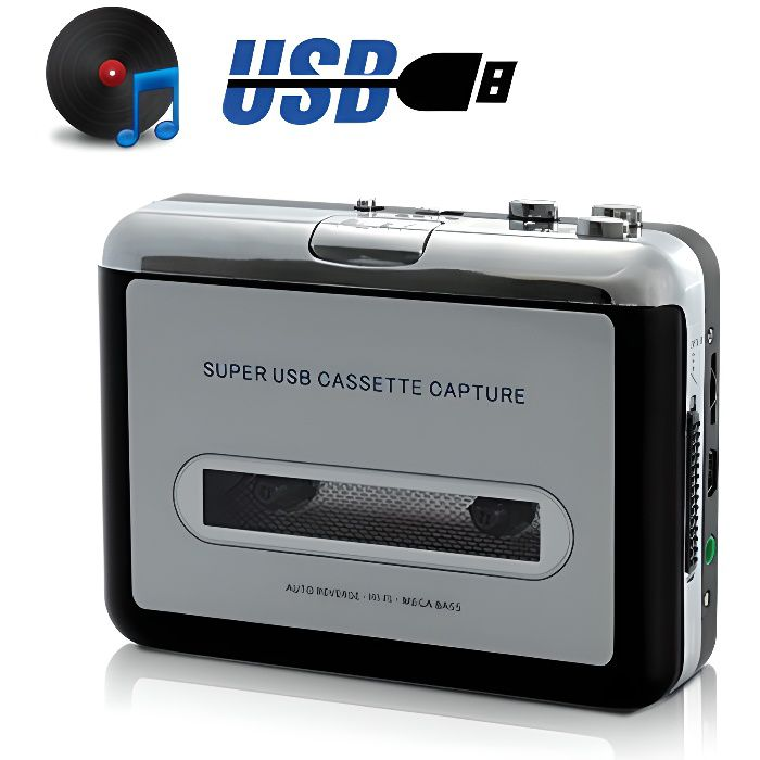 Baladeur encodeur Cassette et USB Multifonction Auvisio