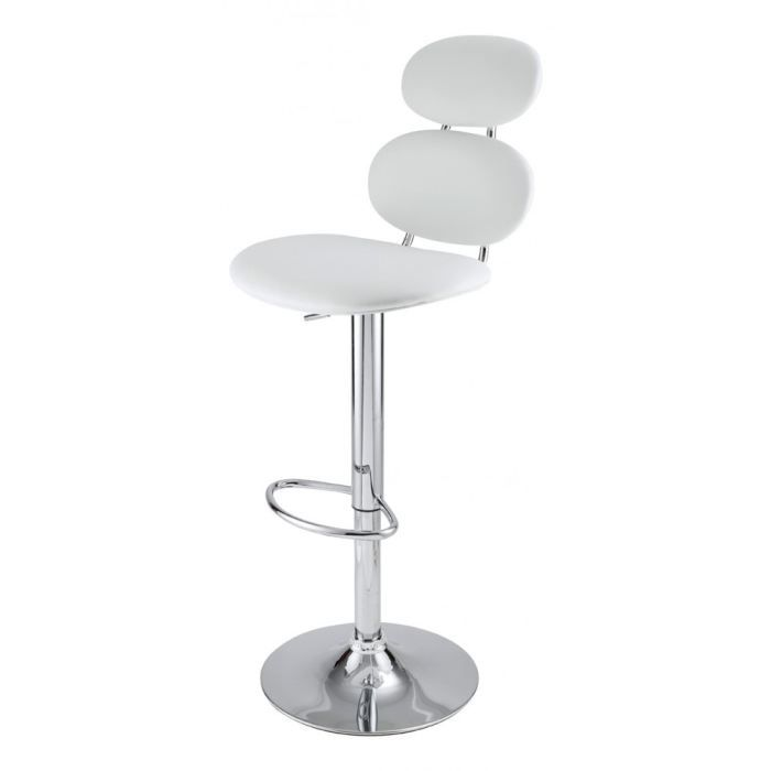 tabouret de bar blanc gabrielle id 39 clik achat vente tabouret de bar cdiscount. Black Bedroom Furniture Sets. Home Design Ideas