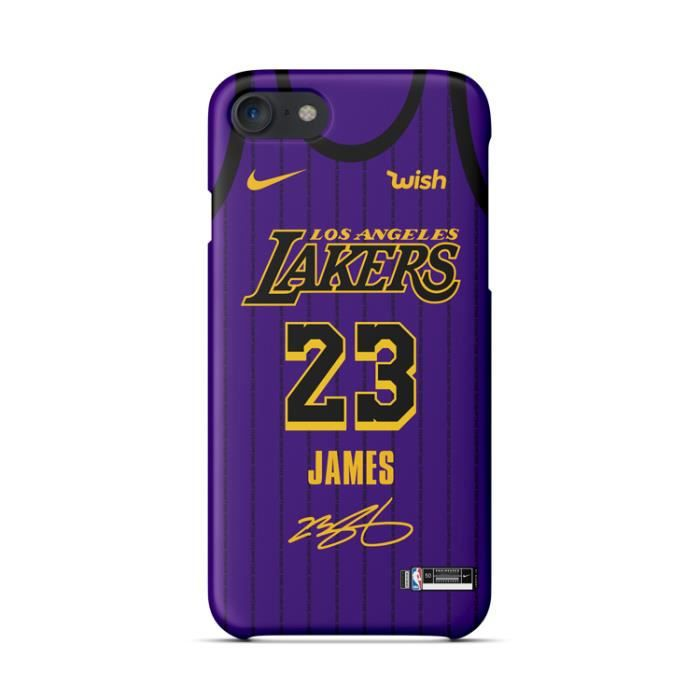 coque iphone 6 6s nba lakers lebron james violet c