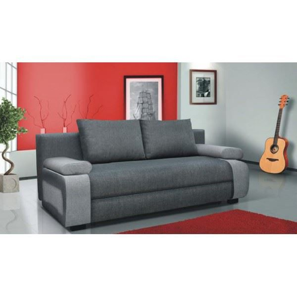 Canap 3 places milano tissu achat vente canap sofa for Monsieur meuble canape milano