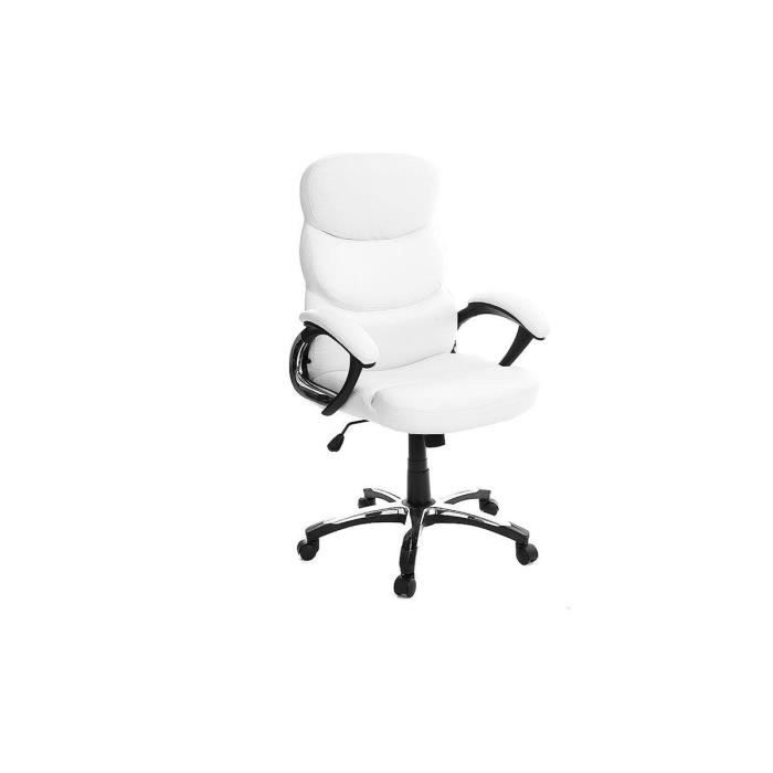 fauteuil de bureau pliable blanc gallien achat vente chaise de bureau blanc soldes cdiscount. Black Bedroom Furniture Sets. Home Design Ideas