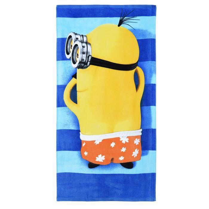 serviette de plage enfant les minions ray bleu 70 achat vente serviette de plage cdiscount. Black Bedroom Furniture Sets. Home Design Ideas