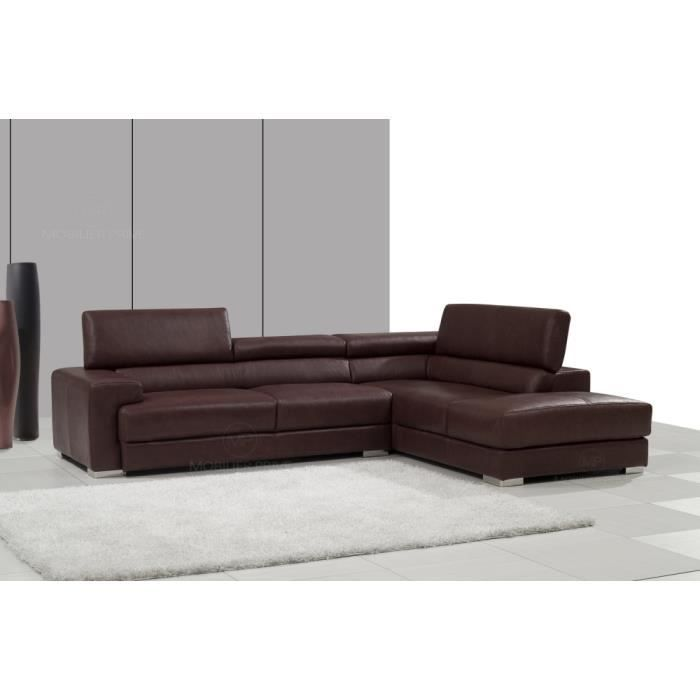 canap d 39 angle en cuir italien 5 places bono achat vente canap sofa divan cdiscount. Black Bedroom Furniture Sets. Home Design Ideas