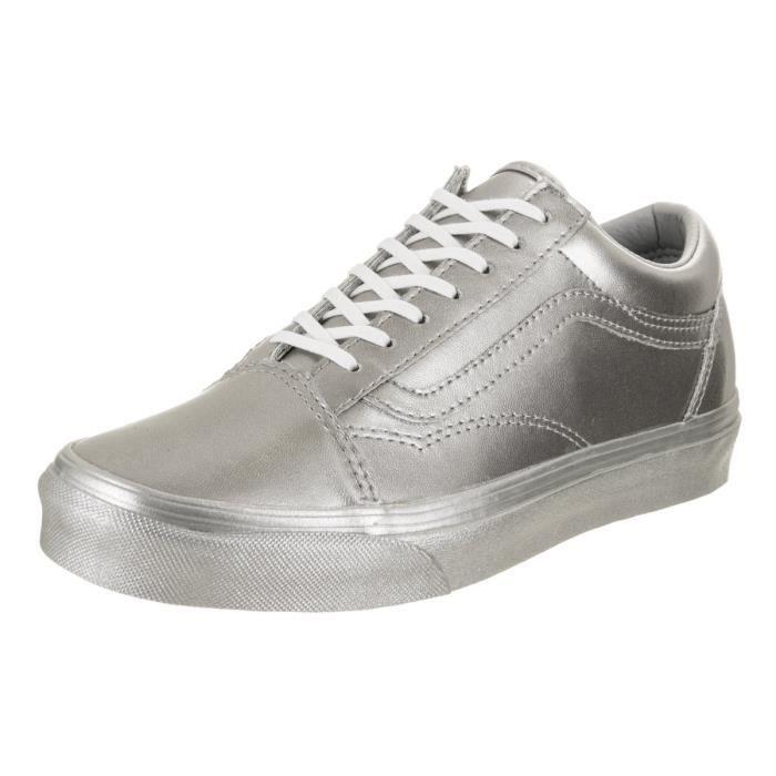 Vans Unisexe Old Skool (argent métallique) Skate Shoe UI3H7 Taille-38