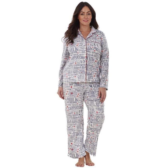Ensemble pyjama nuit en polaire chaud pour lhiver homme