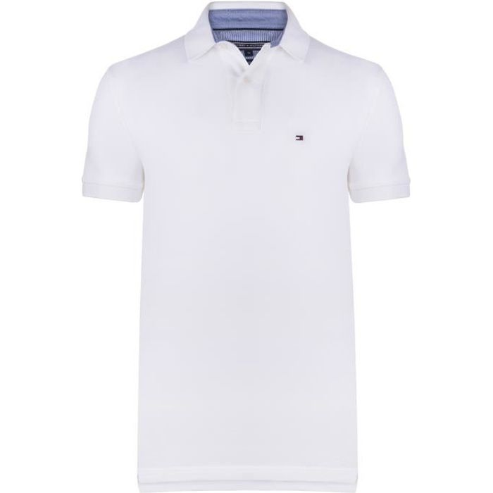 Tommy Hilfiger Homme Polo Blanc New Regular