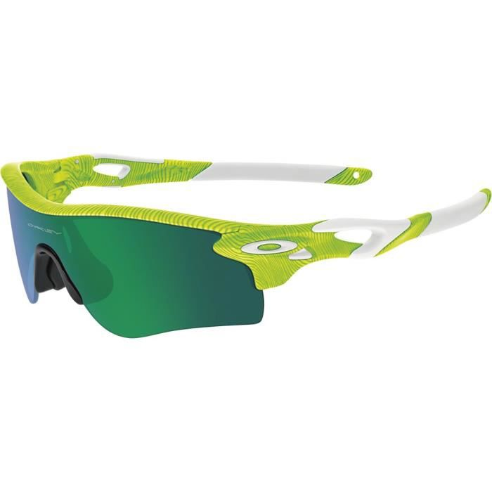 Lunettes de soleil Oakley RadarLock Path Fingerprint Retina Burn 2 ecrans  Medium-Large Vert 9384478ff9e4