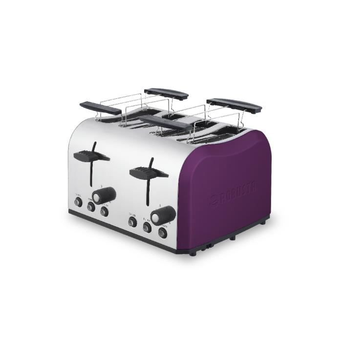 grille pain 4 larges fentes achat vente grille pain toaster cdiscount. Black Bedroom Furniture Sets. Home Design Ideas