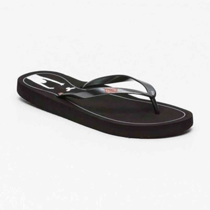 Tongs LEVI'S.77129-0129.noires. Réf. 77129-0129-REGULAR BLACK