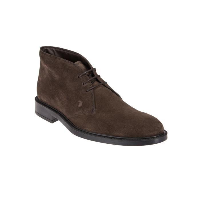 TOD'S HOMME XXM45A00D80RE0S800 MARRON SUÈDE BOTTINES TuztxgZ