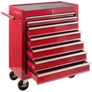 BAC DE RANGEMENT OUTILS Servante Caisse à outils d'atelier 7 tiroirs tools