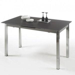 TABLE À MANGER SEULE Table à manger en verre 140cm avec rallonge 6-8 pe