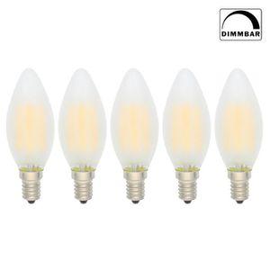 AMPOULE - LED 5X C35 Ampoules LED Filament Dimmable E14 4W Candl