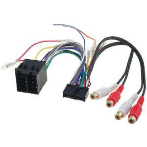 Alimentation Universelle Cable Adaptateur ISO pour amkle Autoradio Bluetooth 18 PIN 14 4 pour Autoradio Pr/é-c/âbl/é Haut-parleurs avec Son