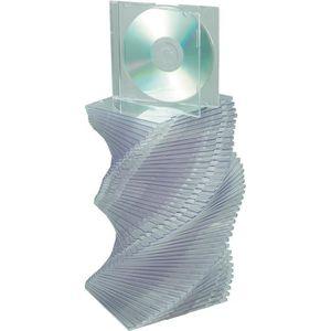 RANGEMENT CD-DVD 50 boîtiers CD transparents