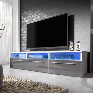 MEUBLE TV Meuble TV / Meuble salon - LAVELLO - 140 cm - blan
