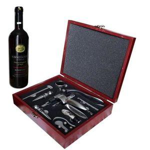 COFFRET CADEAU VIN Cuir PU Box 9 pièces accessoires du vin Coffret ca