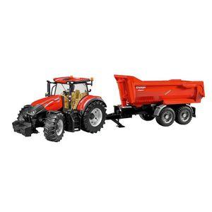 VOITURE - CAMION BRUDER - Tracteur CASE IH Optum 300 CVX avec remor