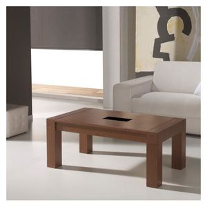TABLE BASSE Table basse Relevable Marron