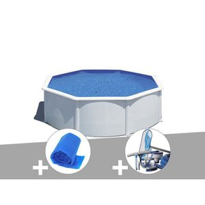 PISCINE Kit piscine acier blanc Gré Wet ronde 3,20 x 1,22