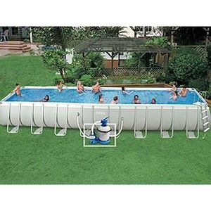Belle piscine rectangulaire prix for Piscine intex auchan