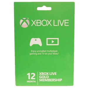 PACK ACCESSOIRE MICROSOFT XBOX LIVE 12 MONATE OR