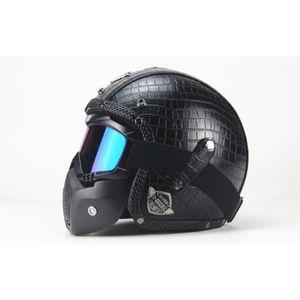 CASQUE MOTO SCOOTER 2018 nouveau casque moto cool avec masque 2 XY
