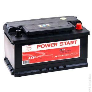 BATTERIE VÉHICULE Batterie voiture P Start 80-600 12V 80Ah +D - Batt