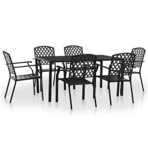 Table et chaises exterieur acier