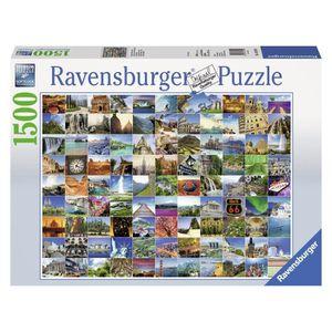 PUZZLE Puzzle 1500 pcs les 99 Plus Beaux endroits Du Mond